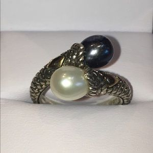 Andrea Candela CJI 925 & 18KT Double Pearl Ring